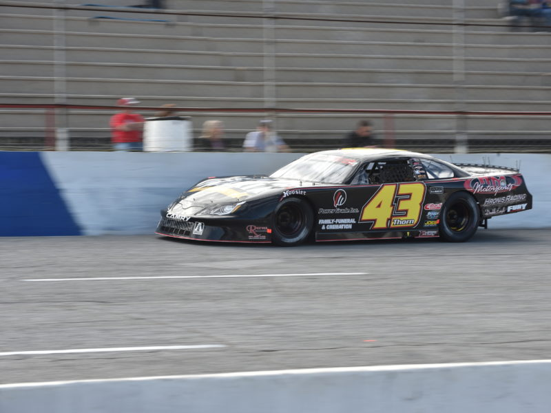 car number 43 on racetrack