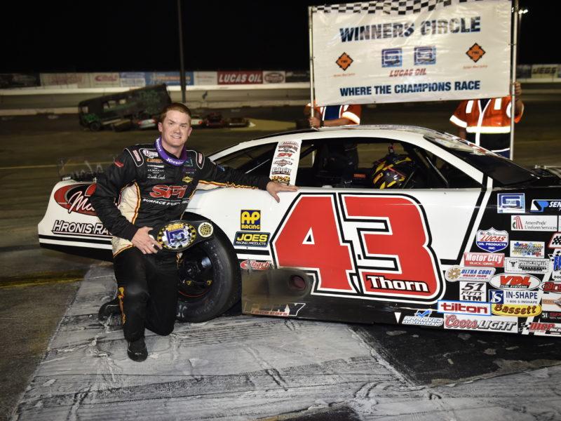 car number 43 at winners circle
