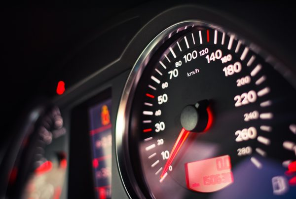 close up photo of car speedometer