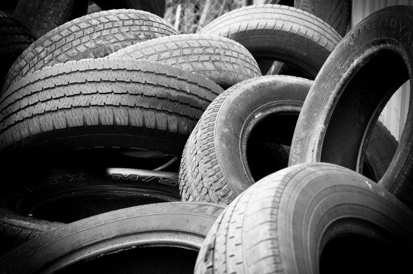 pile of car tires