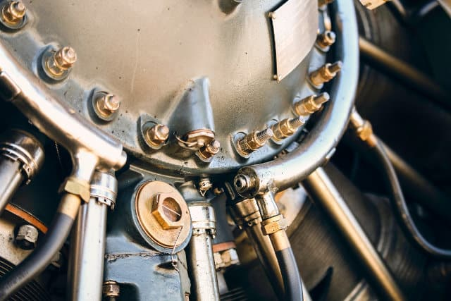 close up photo of engine part