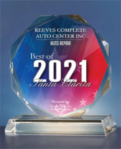 Best of Santa Clarita 2021 Award for Reeves Complete Auto Center